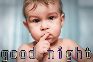 Good night child image, cute baby good night image