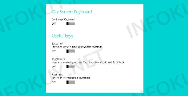 Ubah Pengaturan Keyboard - Keyboard Laptop Tidak Berfungsi