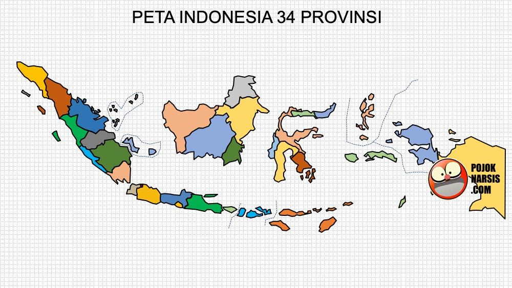 Indonesia merupakan negara kepulauan yang terdiri dari 34 provinsi, 416 kabupaten dan 98 kota atau 7.024 daerah setingkat kecamatan, serta. Template Peta Indonesia Ppt Hd High Definition Atau High Resolution Pojok Narsis