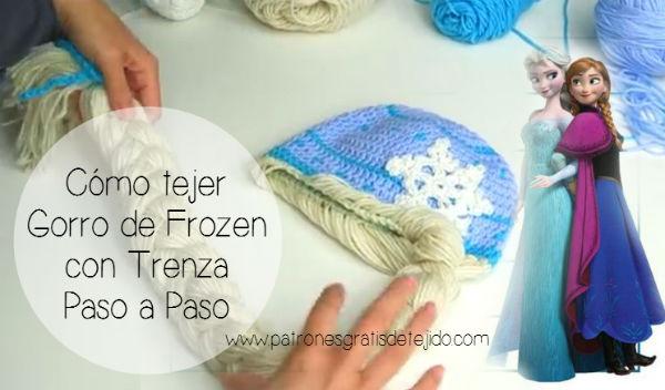 Aprende a tejer un gorro de Frozen con trenza paso a paso