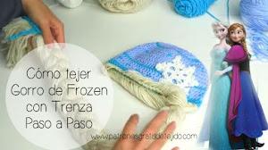 Tutorial: Gorro Crochet de Frozen en video