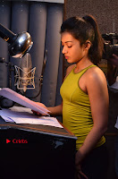 Actress Catherine Tresa Pos during Self Dubbing for Gautham Nanda Movie  0055.JPG