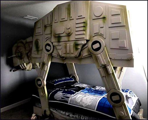 Imperial Walker Bed star wars bedroom furniture boys room furniture