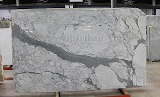 White Marble -Statuario Venato Marble Slab in New York