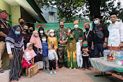 Media Center Dan Koramil 04/CK Berbagi Kebahagiaan Dan Rezeki Pada Anak Yatim