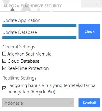 Tampilan Settings Aurora FD Security v2 - Catatan Nizwar ID
