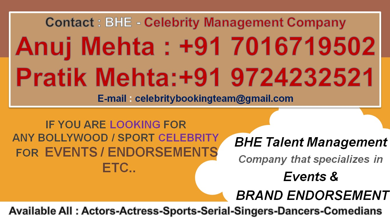 official bollywood celebrity personal manager contact
