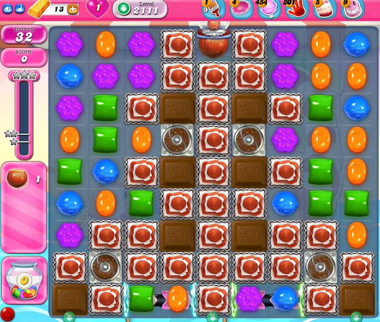Candy Crush Saga level 2111