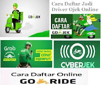 Cara Daftar Jadi Driver Ojek Online Terbaru - Ojol Go-Jek - Grab Bike dan Cyberjek