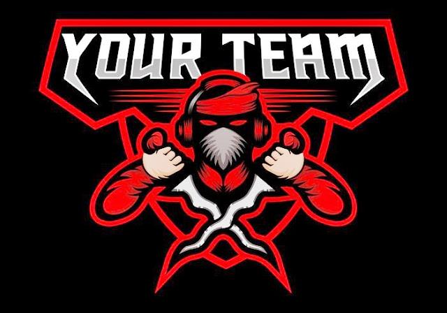 Desain logo keris mentahan untuk esport