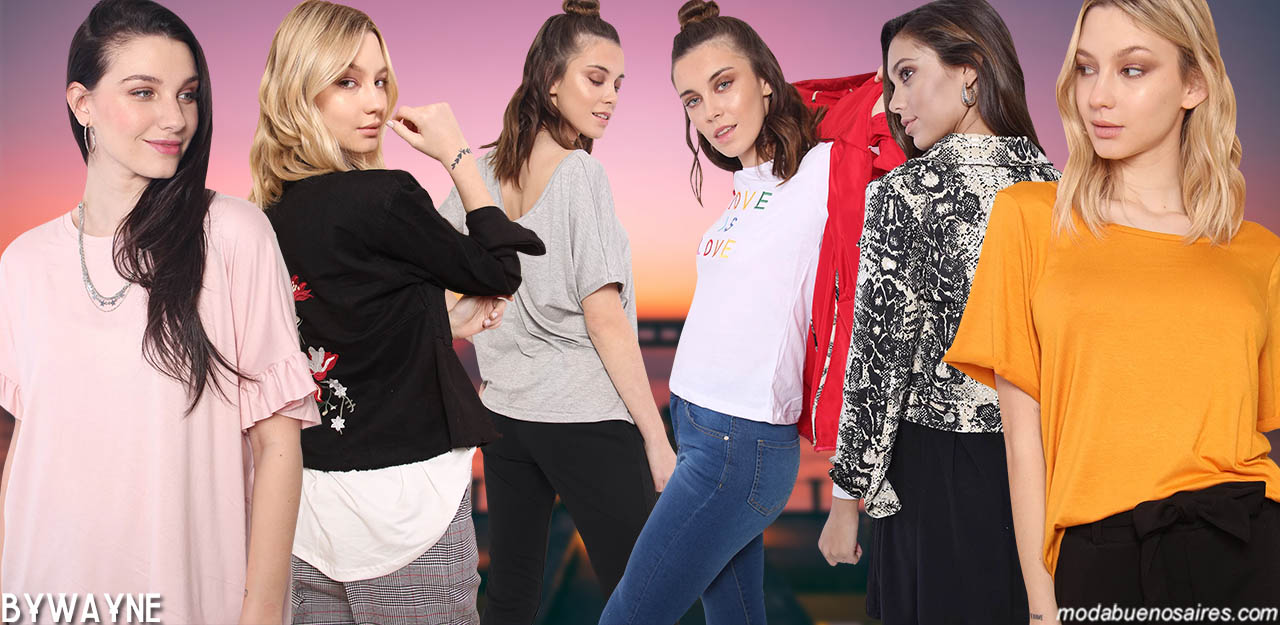 Moda primavera verano 2020 ropa de mujer. Camperas y remeras de mujer primavera verano 2020.