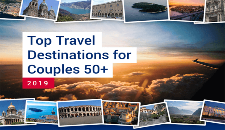 Top Travel Destinations for Couples 50+ #infographic