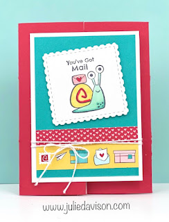 Stampin' Up! Snail Mail Hidden Panel Card VIDEO Tutorial ~ www.juliedavison.com #stampinup