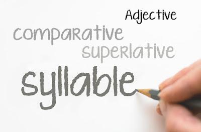 Cara Mengidentifikasi Suku Kata (Syllable) Bahasa Inggris dan Cara Mengubah Adjective Menjadi Bentuk Comparative dan Superlative