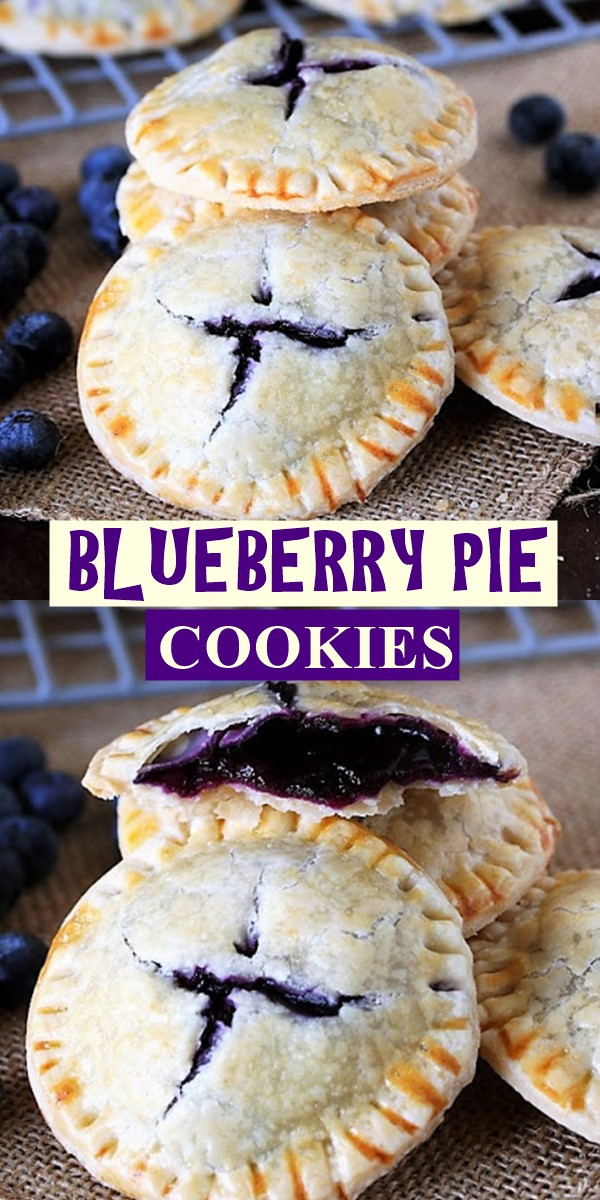BLUEBERRY PIE COOKIES #cookiesrecipes