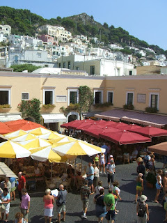 Almost always thronged with tourists, the  bustling Piazzetta is at the heart of Capri town