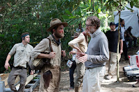 Robert Pattinson and James Gray on the set of The Lost City of Z (30)