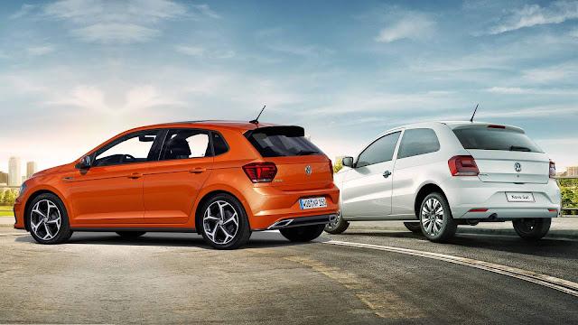 Novo VW Polo 2018 x VW Gol - traseira