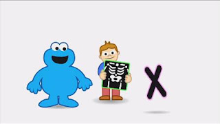 Animated Cookie Monster sings X - Xray song, Sesame Street Episode 4414 The Wild Brunch season 44