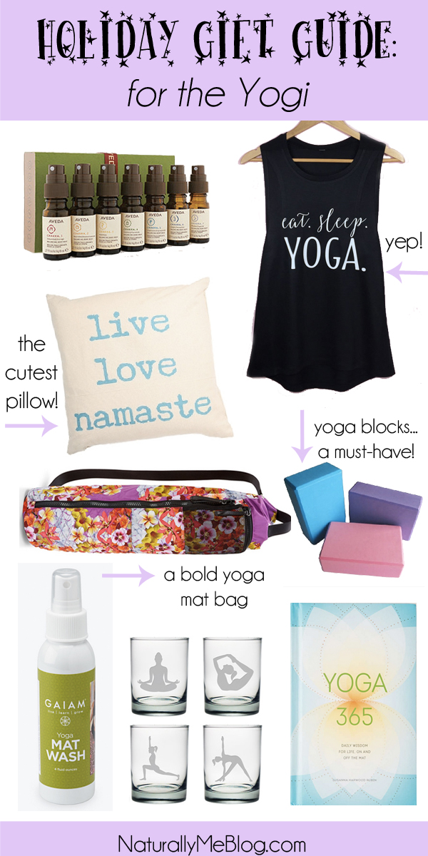 Naturally Me, Holiday Gift Guide, Gift Guide for the Yogi, Yoga Gift Guide