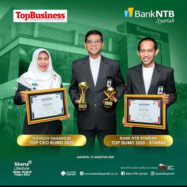 Bank NTB Syariah borong tiga penghargaan Top BUMD Awards 2020