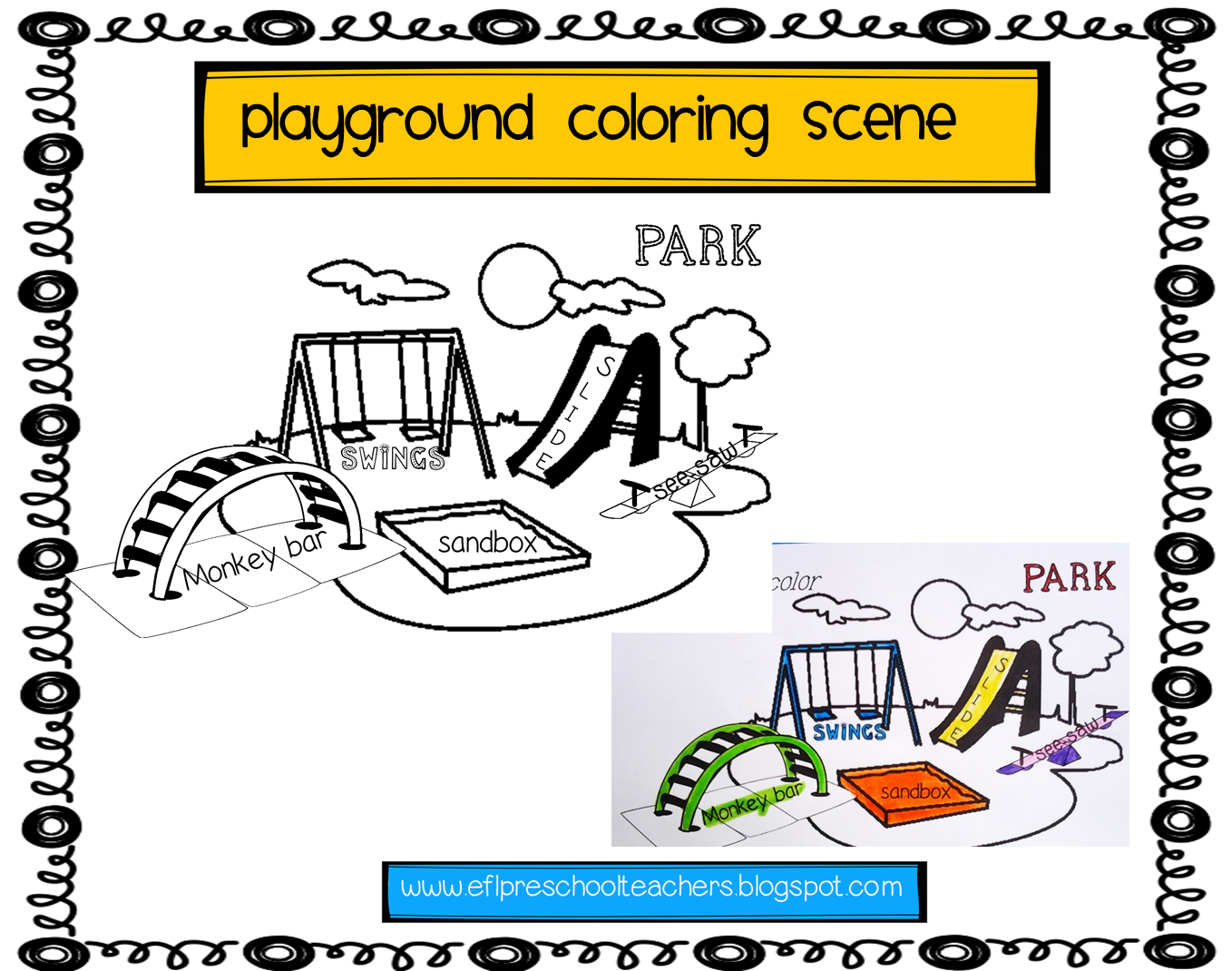 Playground Rules Coloring Pages