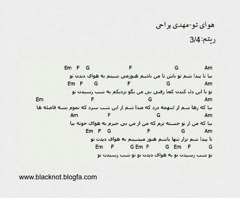 آکورد آهنگ  - software evaluation