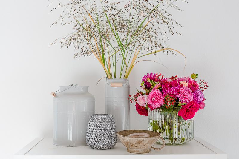Blumen zum Wochenende, Pomponetti Friday Flowerday, Herbststrauß