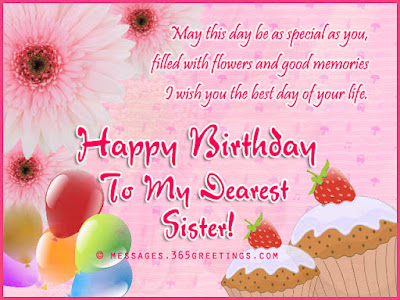 Best Birthday Wishes For Sister 2015