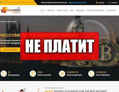 Скриншоты выплат с хайпа theinvestorsdomain.com