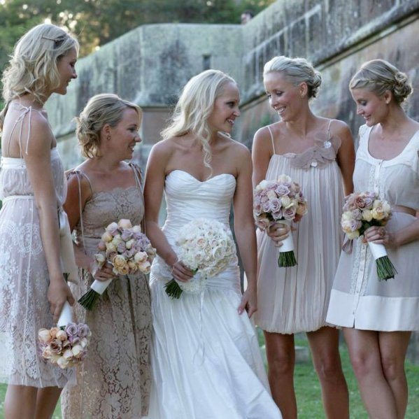Wedding Dress Ideas: Rustic Country Wedding Ideas: Casual Summer Bridesmaids Attire