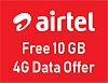 10 GB Free 4G Data Offer For Airtel Users [Update]