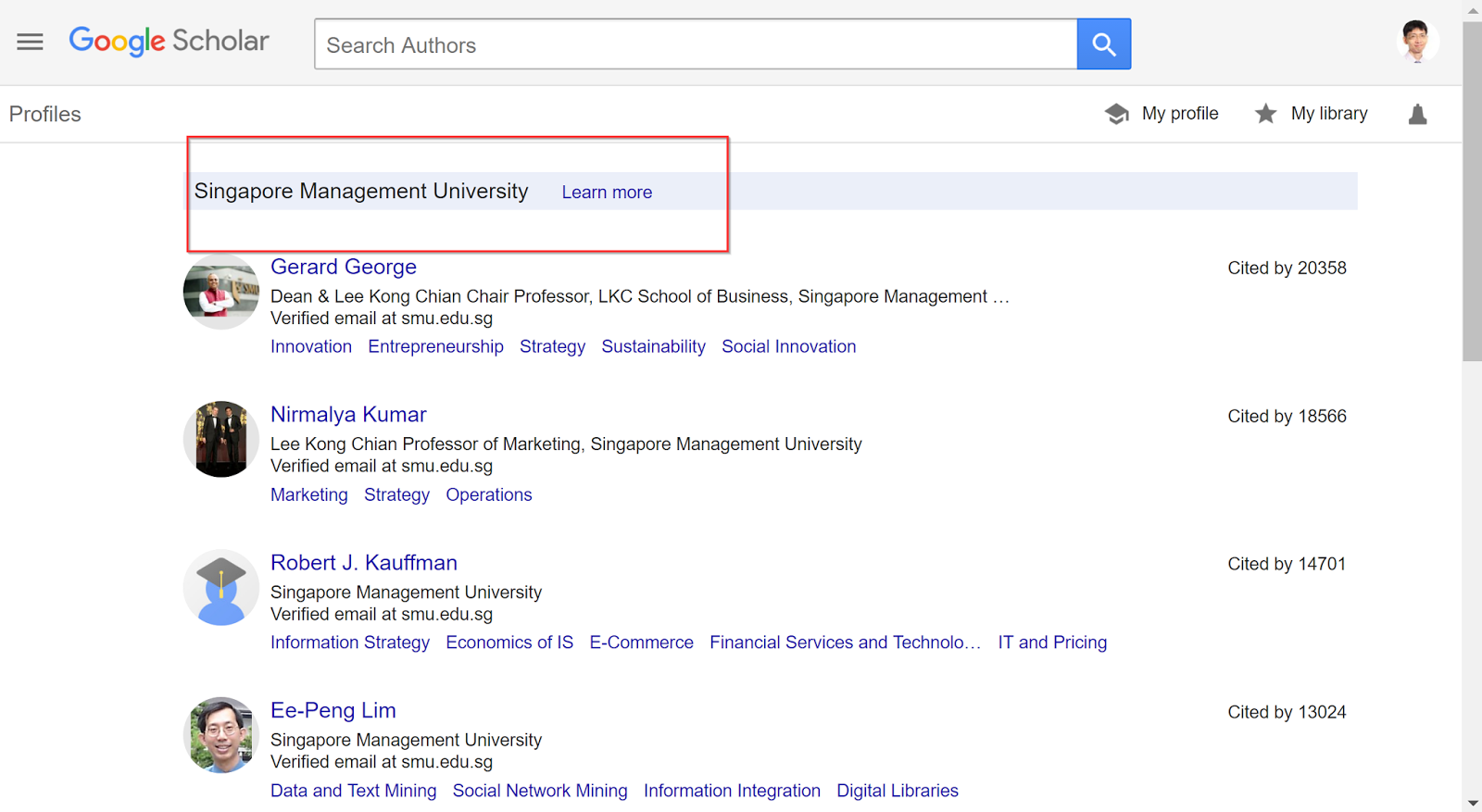 4 new things about google scholar ui recommendations and top cited profiles from the institution ccuart Image collections