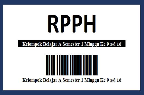 RPPH Kelompok Belajar A Semester 1