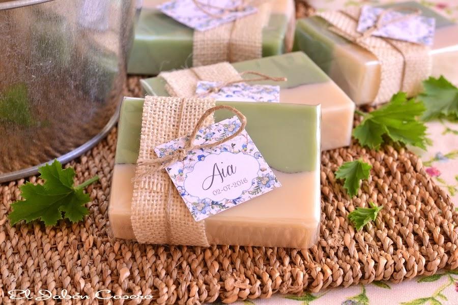 Detalles para bautizos jabones Mojito y karite