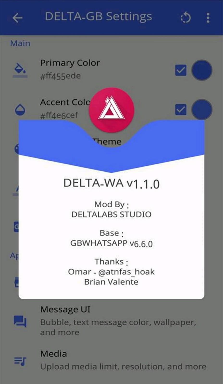 Download Whatsapp Mod Delta-GB versi 1.1.0 by bung yoyok 5