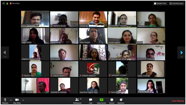 In the Nationwide Lockdown situation an online Global Conference hel in pune