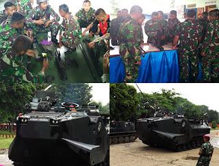 Latihan Kesenjataan Ranpur LVT 7A-1