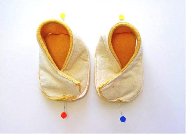 hediyelik bebek patiği nasıl yapılır