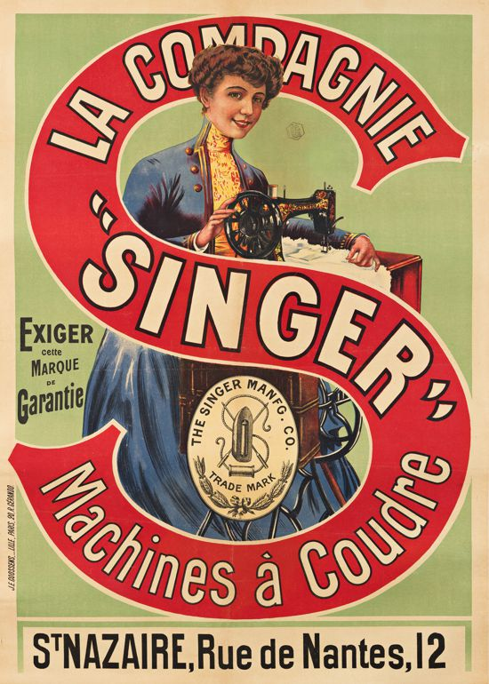 Singer sewing machines French ad 1895