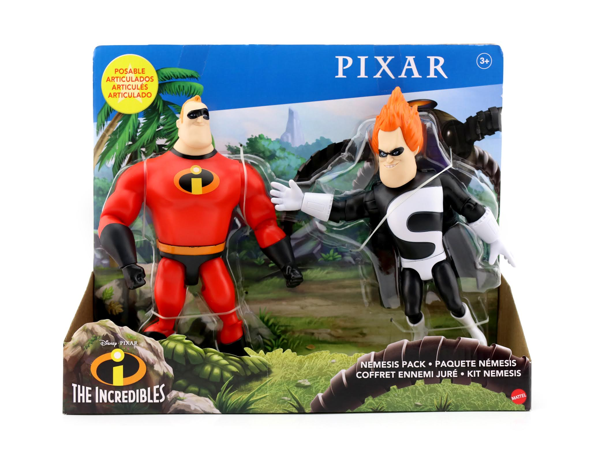 Dan The Pixar Fan The Incredibles Mr Incredible Syndrome 7 Action Figure Nemesis Pack By Mattel