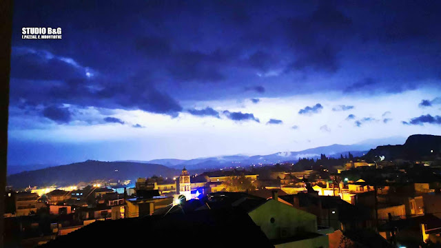 """Η νύχτα έγινε μέρα από τον """"Γηρυόνη"""" στο Ναύπλιο (βίντεο)"""