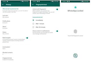 Whatsapp fingerprint || Whatsapp new version Fitur unlock fingerprint dalam versi whatsapp 2.19.221 apk
