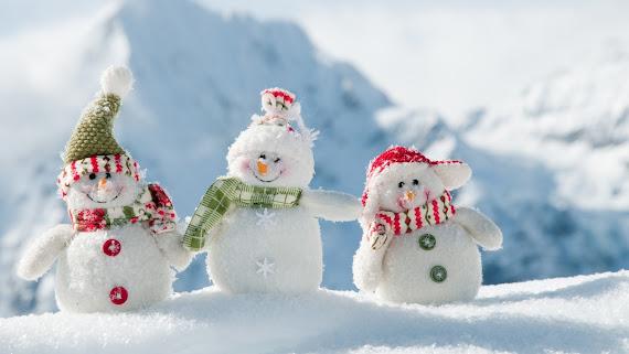 download besplatne Božićne pozadine za desktop 2560x1440 čestitke blagdani Merry Christmas snjegovići