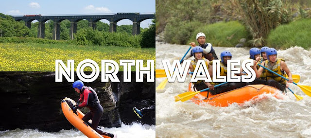 An aqueduct, river bugging and white water rafting