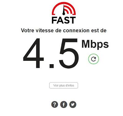 باستخدام Fast.com