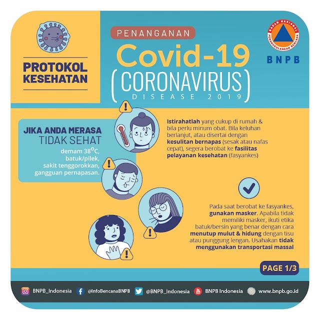 BNPB, Pencegahan Dini Virus Korona Yang Penting Untuk Kalian Ketahui