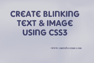 Blinking text and image css
