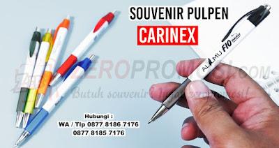 Pulpen Sablon Carinex, Souvenir Pulpen Plastik, Pulpen Carinex