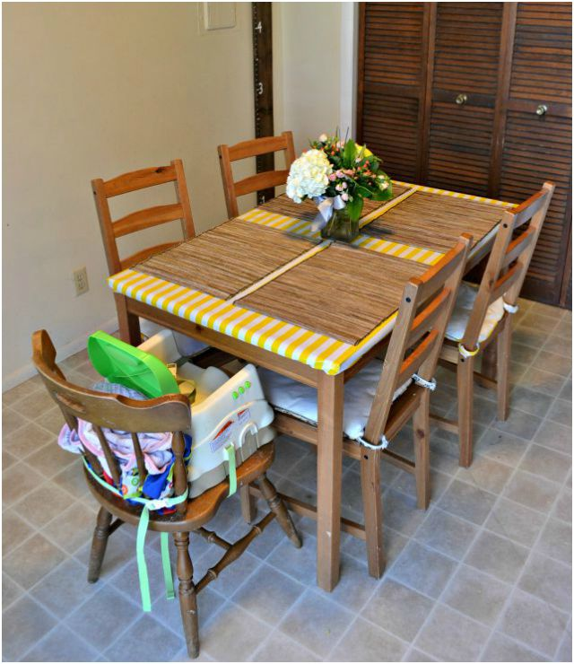 Kitchen Hamper And Oilcloth Tablecloth Heather Handmade